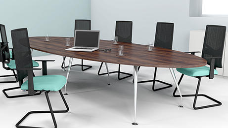 Marvelous New Boardroom Furniture. Spire Oval Meeting Tables